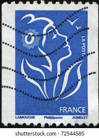 FRANCE - CIRCA 2005: A stamp printed in France shows Marianne, circa 2005