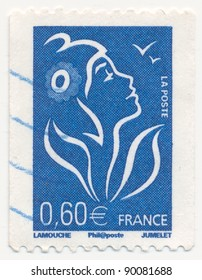 FRANCE - CIRCA 2006: stamp printed by France, shows Marianne, the allegory of the French Republic, circa 2006