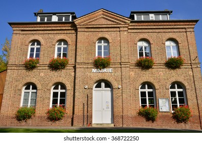 France, the city hall of Le Heron in Normandie