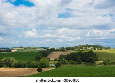 France, Lot et Garonne, Nérac, its hills
