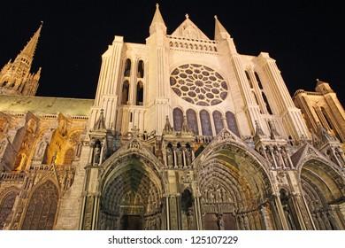 France, Eure et Loir, Chartres, Notre Dame de Chartres Cathedral