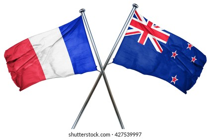 France flag  combined with new zealand flag