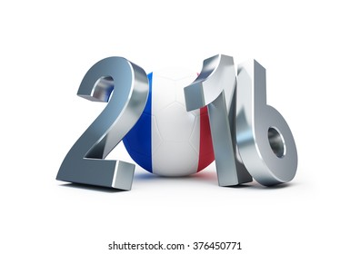 France Football 2016 3d Illustrations on a white background