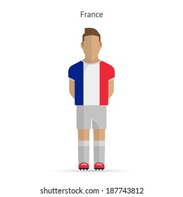 France football player. Soccer uniform.