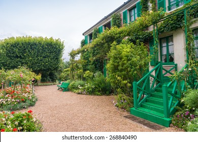 France Giverny Monet's garden on a spring day.