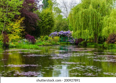 France Giverny Monet's garden spring May