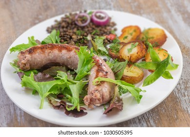 France Grilled Toulouse sausage and vegetables