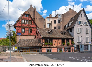 France, historic houses in the district of La Petite France in Strasbourg
