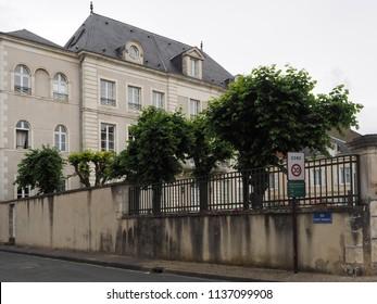 Châteauroux, France - June 3, 2018. Musée Hôtel Bertrand in the historic centre.