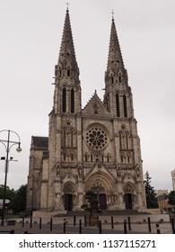 Châteauroux, France - June 3, 2018. Eglise Notre Dame de Chateauroux, catholic church.