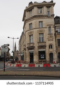Châteauroux, France - June 3, 2018. Historic building in the downtown.
