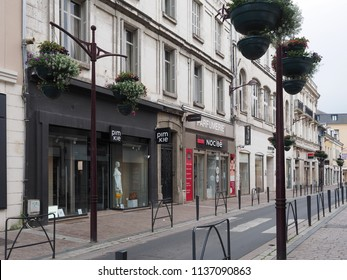 Châteauroux, France - June 3, 2018. The main street.