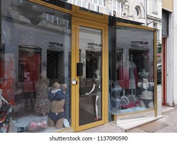 Châteauroux, France - June 3, 2018. Shop for women's clothes.