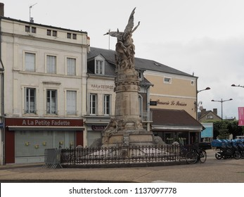 Châteauroux, France - June 3, 2018. Square with war memorial.