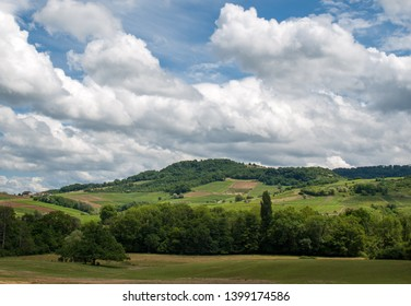 France, Jura, Arbois, vineyard landscape in the commune of Pupillin, famous terroir of the Jura wine