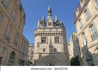 France, la Porte Cailhau in Bordeaux