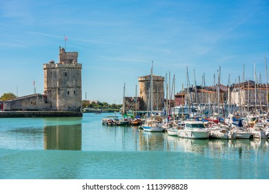 FRANCE, LA ROCHELLE - SEPTEMBER 21, 2015: View of yachts in the old port of La Rochelle France