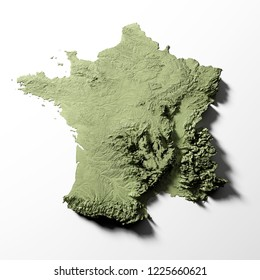 France Physical Map Stock Photos, Images & Photography ...