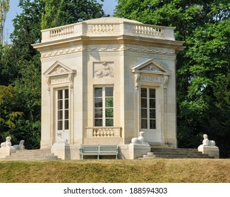 France, the Marie Antoinette estate in the parc of Versailles Palace