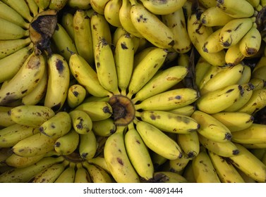 France, Martinique, bananas at the market