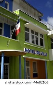 France, Martinique, city hall of Sainte Luce