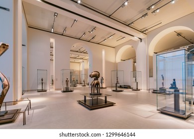 France, MAY 7: Interior view of the famous Louvre Museum on MAY 7, 2018 at Paris, France