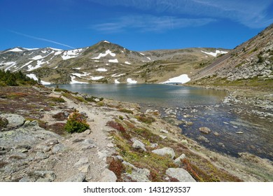France mountain lake landscape in the Pyrenees, Casteilla, Pyrenees-Orientales