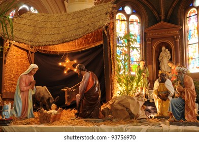 France, nativity scene in Triel-sur-Seine church