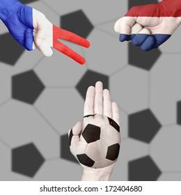 France Netherlands Ball Rock-Paper-Scissors