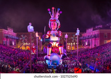 France Nice 17/02/2018 editorial Carnival of Nice France 2018