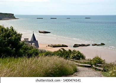 France Normandy Arromanches Gold beach