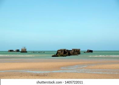 France, Normandy, Arromanches Gold beach