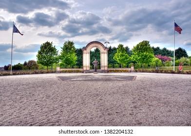 France Normandy Bayeux roundabout Eisenhower