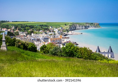France, Normandy, view of Arromanches, one of the places of the second World War landing