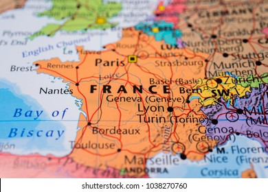 France on the map