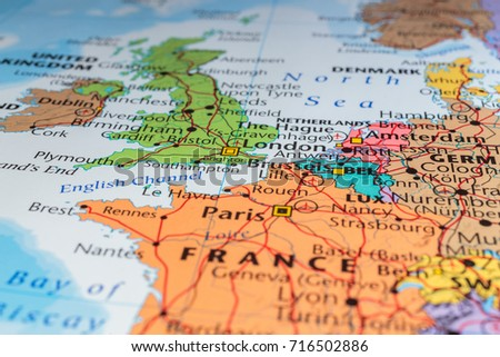 Map Of Europe Without France.France On Map Europe Stock Photo Edit Now 716502886 Shutterstock
