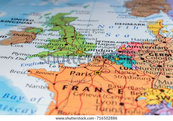 France On A Map Of Europe.France On Map Europe Stock Photo Edit Now 716502886