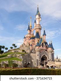 France, Paris- 01 November 2015:Sleeping Beauty Castle