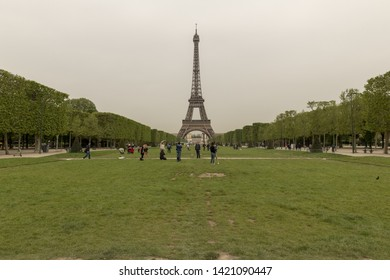 France, Paris, 2019 - 04  The Champ de Mars was part of a large flat open area called Grenelle, which was reserved for market gardening.
