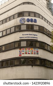 France, Paris, 2019 - 04 The European Space Agency  an intergovernmental organisation of 22 member states dedicated to the exploration of space. Established in 1975 and headquartered in Paris,