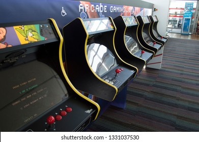FRANCE PARIS 21.04.2017 Arcade Game Consol