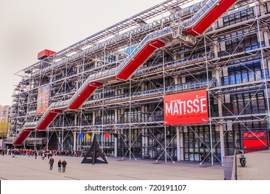 FRANCE, PARIS - APR 17, 2012: Museum Centre Georges Pompidou