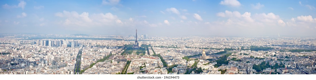 FRANCE, PARIS - April 30.2014: View of city from the height of bird flight