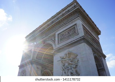 France Paris - Arc de Triumph with lovely sunkiss
