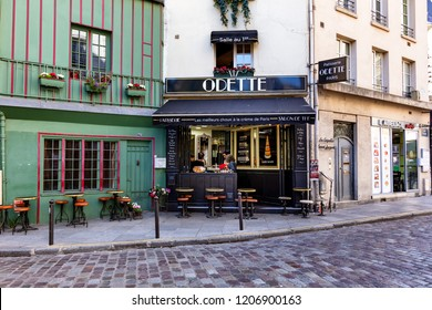 France, Paris, October 5, 2018: view of pastry at Odette's