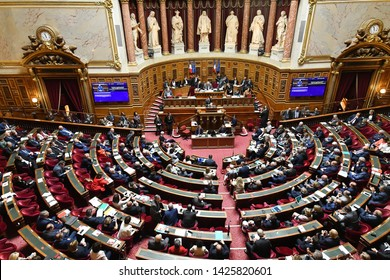 FRANCE – PARIS – SENATE – June 11, 2019 - French Prime Minister Edouard Philippe  pronounces a speech for Act 2 of Macron's Policy at the Senate