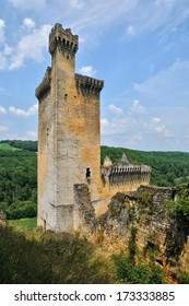 France, the picturesque castle of Commarque in Dordogne
