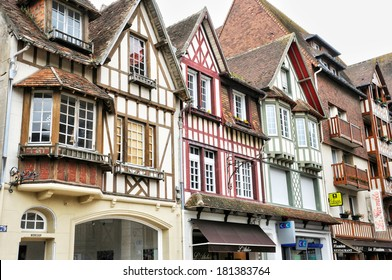 France, the picturesque city of Deauville in Normandie