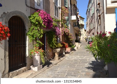 France. Provence. Cannes. A street of the district Le Suquet.