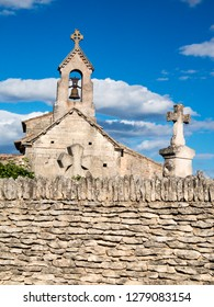 France, Provence. This is the parish church of San Pantaleone, a classified historic monument from the 12th century.